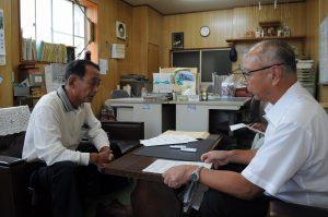 十日町 役員が担い手農業者を訪問