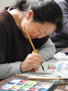 ひすい 女性部絵手紙教室